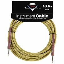 New Fender Custom Shop Performance Series 18.6 Ft Tweed Instrument Cable! Guitar