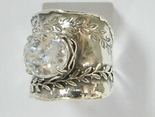 Vintage Elegant Shablool Didae Sterling Silver Ring Cubic Zirconia For Women