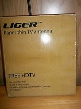 LIGER Paper Thin TV Antenna - FREE HDTV - NEW IN BOX!