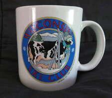 WISCONSIN Ski Club Ceramic MUG Coffee Cocoa Drink Travel Vintage Cow Winter Snow