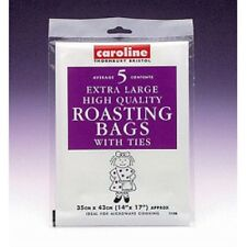 "Caroline 5 Extra Large High Quality Oven Meat Roasting Bags with Ties 14"" x 17"""