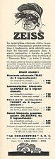 W2196 Binoccoli ZEISS - Listino prezzi - Pubblicità del 1931 - Old advertising
