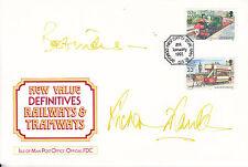 Richard Franklin firmato Isola di Man FDC