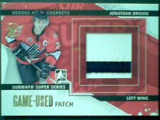 JONATHAN DROUIN 13/14 SUBWAY SUPER SERIES 2-COLOR SEAMED GAME-USED PATCH /5  SP