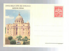 Mint Vatican Postal Stationery ps Picture postal card St Peters Cathedral
