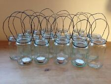 20 X JAM JAR GLASS HANGING TEA LIGHT CANDLE HOLDER Shabby Chic