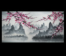 Large Canvas Prints Wall Art Decor Modern Abstract Art Japanese Cherry Blossom