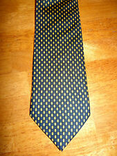 CELLINI CLASSIC ELEGANT BLUE/YELLOW PATTERNED 100% SILK TIE