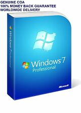 Windows 7 Professional  COA Product  Key Only 32  64 Bit  Genuine+ PC Parts