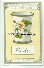 su2014 - Old English Pottery & Porcelain - Minton - postcard Chairman Cigs