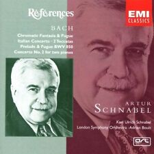 Bach Piano Works A & K U Schnabel Boult LSO (CD 1999) New 724356721029