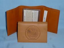 UNITED STATES ARMY  Leather TriFold Wallet   NEW!   tan