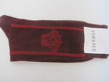 VERSACE RED SOCKS  SIZE MED COTTON/NYLON MADE IN ITALY NWT