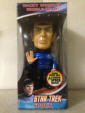 FUNKO SPOCK METALLIC CHASE PIECE STAR TREK TALKING WACKY WOBBLER BOBBLE HEAD NEW