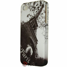 Cover Custodia Rigida Per iPhone 4/4S Pariggi Autunno + Pellicola Salva Display