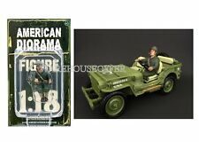 AMERICAN DIORAMA 1:18 WWII USA SOLDIER ARMY FIGURE IV AD-77413
