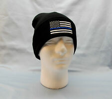 Thin Blue Line Beanie Police SWAT Watch Cap