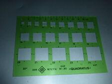Zeichenschablone QUADRATUS für Quadrate von 5 - 24 mm