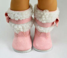 gift for kid fashion pink boot shoes for 18inch American girl doll party b241
