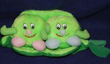 """12"""" Goffa Plush Peas in a Pod Girl & Boy Stuffed Vegetables"""