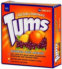 Tums Fruit Effective Relief from Indigestion and Heartburn 36