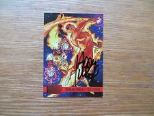 1995 FLEER MARVEL VS DC HUMAN TORCH/FIRESTORM CARD SIGNED ADAM KUBERT, WITH POA