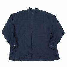 ISSEY MIYAKE MEN Stand collar Fly front shirt Size L(K-35357)