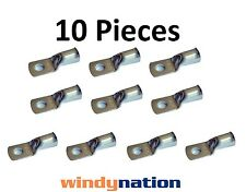 (10) 2 GAUGE 2 AWG X 3/8 in TINNED COPPER LUG BATTERY CABLE CONNECTOR TERMINAL