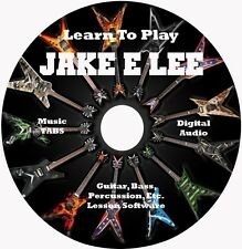 Jake E Lee (Badlands,Ozzy) Guitar TABS Lesson CD Windows,Linux,MAC 39 Songs!