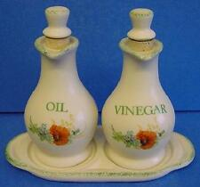 KERNEWEK Pottery Coquelicot Design oil & vinegar cruet set