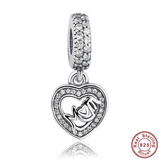 Authentic S925 Sterling Silver CZ Motherly Love Mom Charm New Arrivals