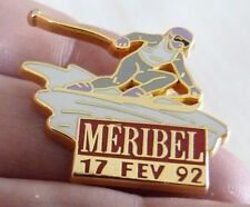 PIN'S SKI JEUX OLYMPIQUES MERIBEL 92 ALBERVILLE ARTHUS BERTRAND