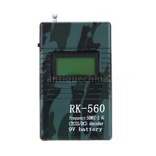 RK560 50MHz-2.4GHz Portable Frequency Counter Meter DCS CTCSS Radio Testing 3VS8