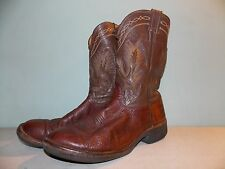 2000's  Brown Leather Western/Work Boots Est. Men's Size 11 - 11 1/2 used
