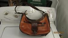 Brown Leather M C Purse Hand Bag