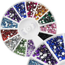 New Hot Nail Art Rhinestones Glitters Acrylic Tips Decoration Manicure Wheel