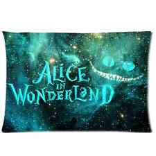 Alice in Wonderland Cheshire Cat Pillow Case Protector 20 x 30 Inch One Side