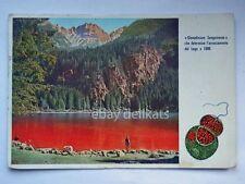 LAGO DI TOVEL rosso Alpi Brenta Trento vecchia cartolina