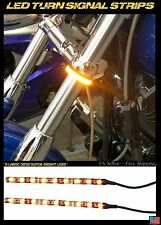 LED 39-43mm Motorcycle Fork Turn Signal/Running Light Kit w/ Clear Panigale