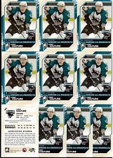 LOGAN COUTURE 10/11 ITG H&P RC Rookie Lot of (10) #127 San Jose Sharks Draft