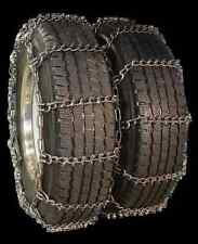 ACCO RDT V-Bar Reinforced Snow Chains for Dual Rear Tires 265/70-19.5 8-22.5 etc
