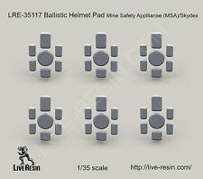 Live Resin 1/35 LRE-35117 Ballistic Helmet Pad Mine Safety Appllianse MSA/Skydex