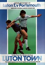 1987/88 Luton Town v Portsmouth, Division 1, PERFECT CONDITION