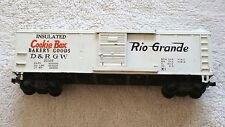 HO SCALE AC GILBERT AMERICAN FLYER MODEL TRAINS 33523 D & RGW COOKIE BOX BOXCAR