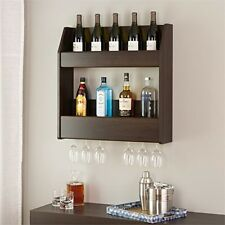 Prepac Espresso 2-Tier Floating Wine & Liquor Rack ESOW-0202-1 Wine Rack NEW