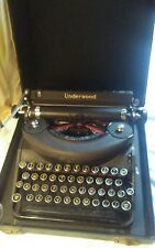 TYPEWRITER VINTAGE 1937 UNDERWOOD NOISELESS PORTABLE  WITH CASE