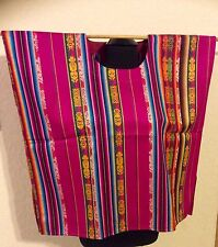 MEXICAN BLOUSE TUNIC BOHO PEASANT VINTAGE STYLE HUIPIL M to 3X ONE SIZE