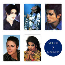 Michael Jackson Fridge Magnets Set of 5 NEW Rock with You Bad Dangerous Jam