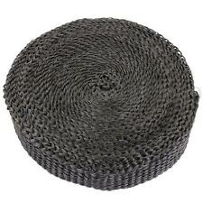 Exhaust Heat Manifold Downpipe Wrap High Temp Insulating Bandage Tape Roll Black