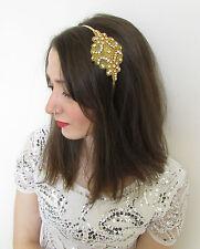 Gold & Silver Diamante Headband Headpiece Vintage 1920s Flapper Great Gatsby Y65